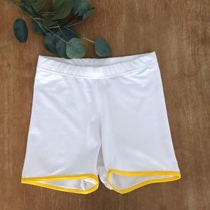 Adidas Stella McCartney White/Yellow Shorts